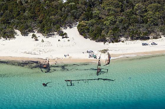 Wrack vor Bulwer Moreton Island / Wreck at Bulwer Moreton Island