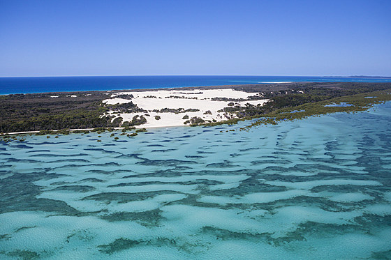 Luftaufnahme Moreton Island / Aerial View of Moreton Island