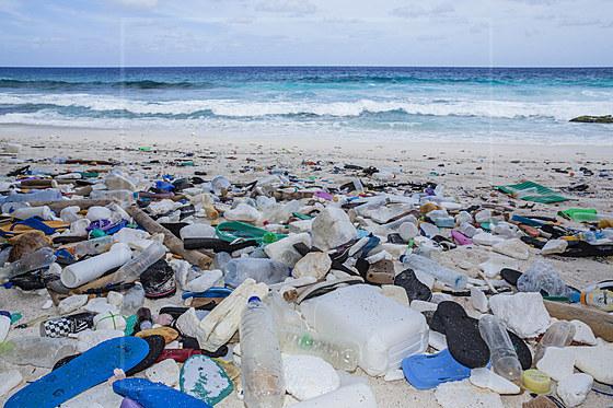 Angeschwemmter Plastikmuell verunreinigt Greta Beach / Plastic Waste washed up at Greta Beach