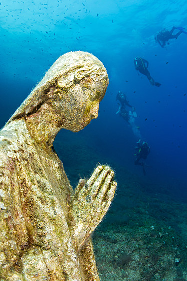 Tauchen an der Statue der Heiligen Maria / Scuba Diving at Statue of Virgin Mary
