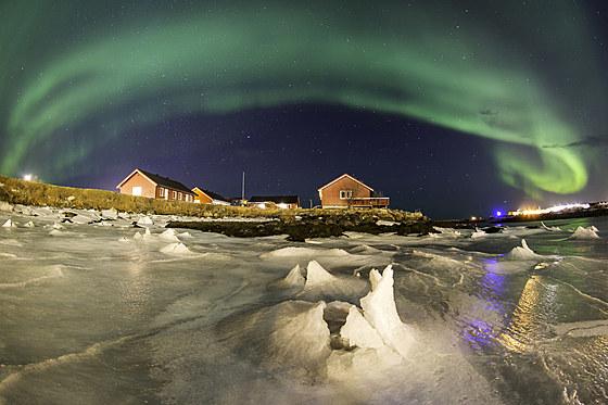 Polarlicht ueber Andenes / Polar Lights over Andenes / Aurora Borealis